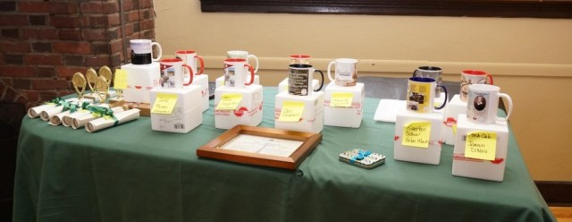 certificates, trophies, mugs, and crystal keepsakes - tokens of achievement, recognition, and gratitude await their recipients