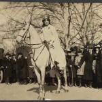 Inez Milholland Boissevain preparing to lead the March 3, 1913