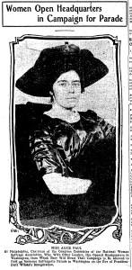 Women Open Headquarters, January 11, 1913 Denver Post, p. 8