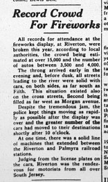 Record crowd for fireworks, The New Era, June 7, 1938, p1