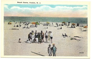 Beach scene, Avalon, NJ 1354