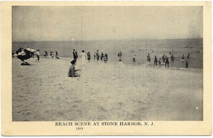 Beach scene at Stone Harbor, NJ