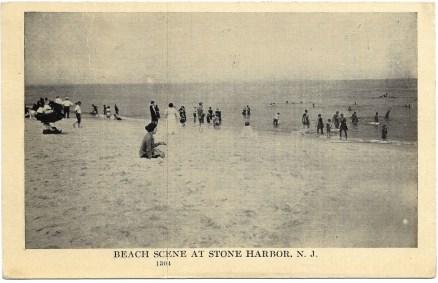 Beach scene at Stone Harbor, NJ