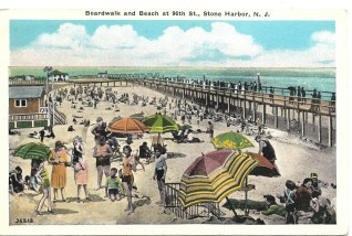 Boardwalk and Beach at 96th St., Stone Harbor, NJ
