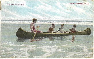 Canoeing in the surf, Stone Harbor, NJ 1304