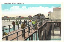 Fishing from the pier, Avalon, NJ