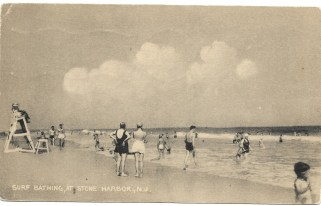 Surf bathing at Stone Harbor, NJ
