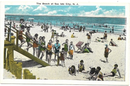 The beach at Sea Isle City, NJ