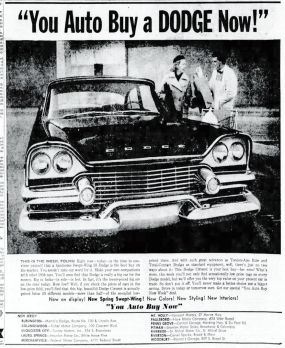 Carvel Sparks last auto ad, Courier-Post, Apr 22, 1958, p10