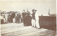 Gov. Woodrow Wilson after the dedicatory services on the Great Channel drawbridge, July 3, 1911
