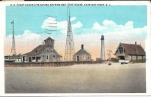 U.S. Coast Guard Life Saving Station and Light House, Cape May Point, N.J.