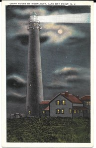 Light House by Moonlight, Cape May Point, N.J.