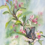 Black Butterfly painting by Cherie Den Boer
