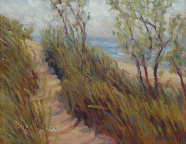 """Before the Fog Lifts. Oil on canvas, 8"""" x 10"""" 2010"""