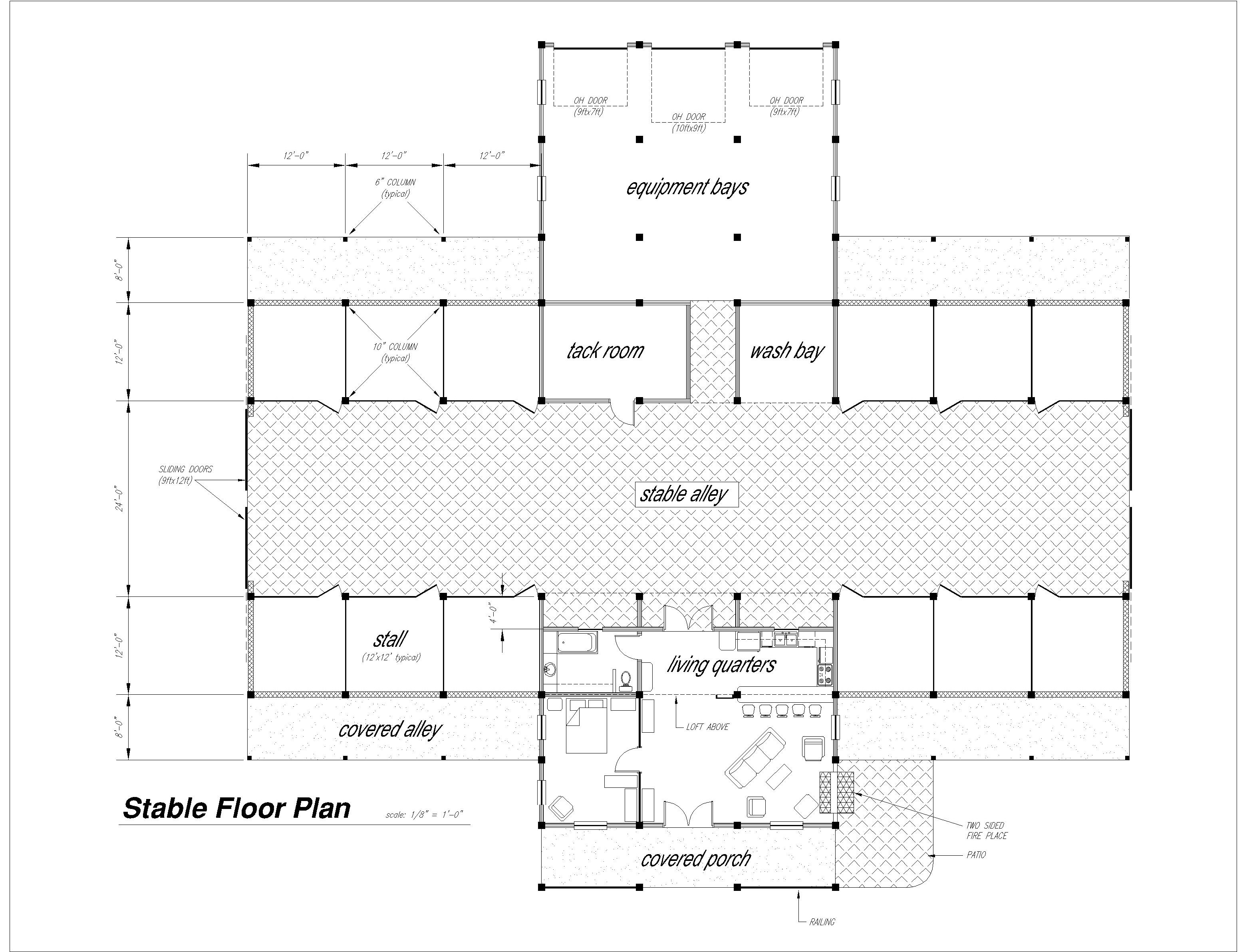 Barn Floor Plan At RiverView Stables