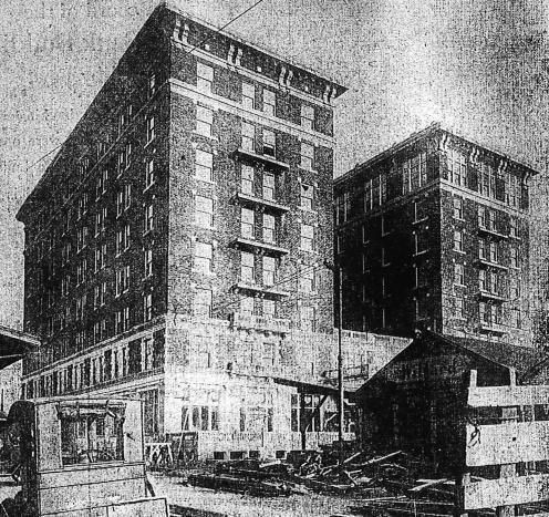 McCurdy - construction (1917) 2 EVANSVILLE COURIER JAN 7 1917 FROM HISTORIC EVANSVILLE DOT COM