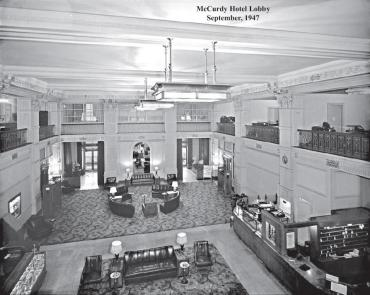 McCurdy - lobby (1947 Sep) DONAHUE COLLECTION HISTORIC EVANSVILLE DOT COM