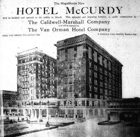 McCurdy - sketch (1917)- Evansville Courier JAN 7 1917 FROM HISTORIC EVANSVILLE DOT COM