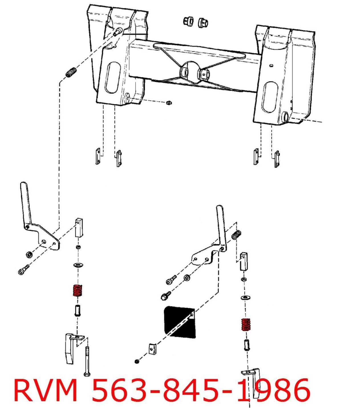 bobcat 864 wiring diagram compression spring  6578253  for quick attach handle   wedge  for quick attach handle   wedge