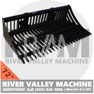 RVM® HD | River Valley Machine Heavy-Duty 72″ Skeleton Bucket