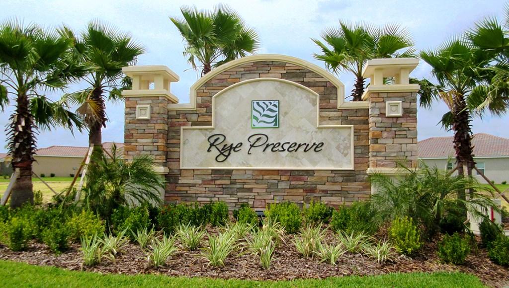 Rye Wilderness Estates Subdivision Bradenton Florida New Homes Community