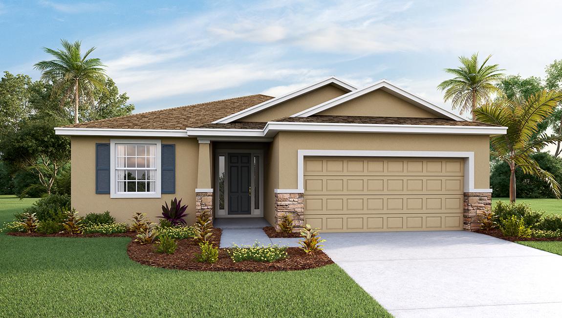 DR Horton Homes | The Laurel 1,844 square feet 3 bed 2 bath 1 story 2 car  | Brooker Ridge Brandon Florida Real Estate | Brandon Realtor