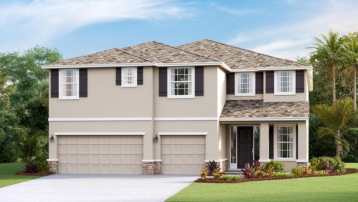 DR Horton Homes | The Surrey 4,033 square feet 5 bed, 4 bath, 3 car, 2 story  | Brooker Ridge Brandon Florida Real Estate | Brandon Realtor