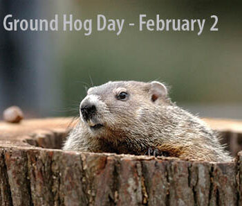 Groundhog Day .  Feb. 2