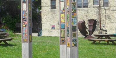 peace posts garden ParkCLR