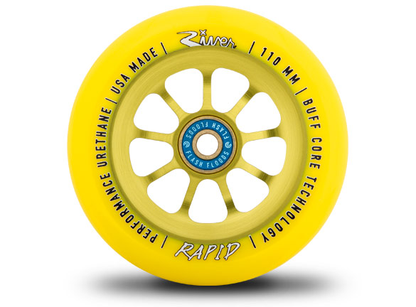 River Wheels Yellow Sunrise Rapids