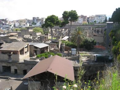 The ruins of Herculaneum, beneath the modern city of Ercolano