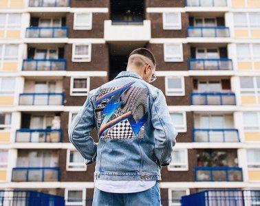 Denim jacket by Felipe Pantone
