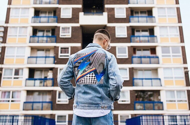 Denim jacket by Felipe Pantone