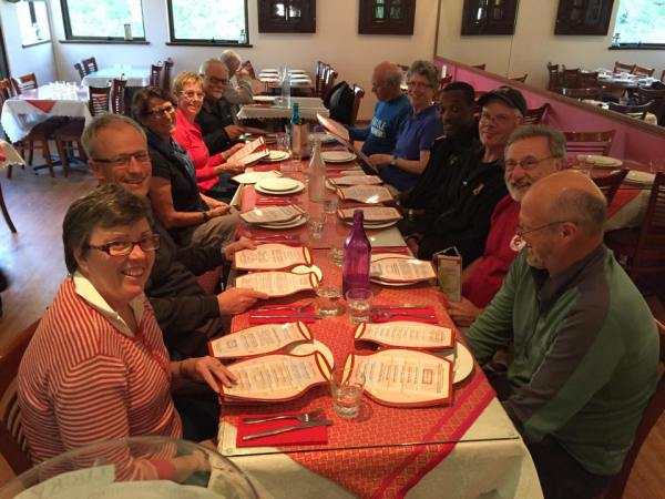 Let the pre-ride feasting begin! Photo: M. Thomas
