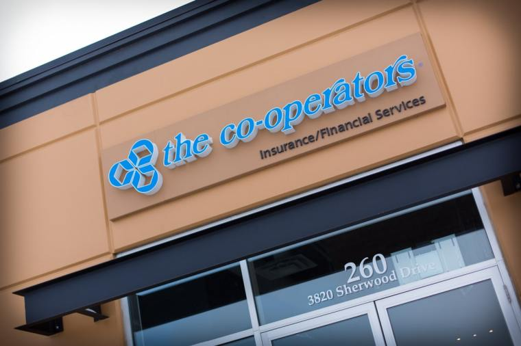 Cooperators Insurance Office signage Sherwood Park Edmonton