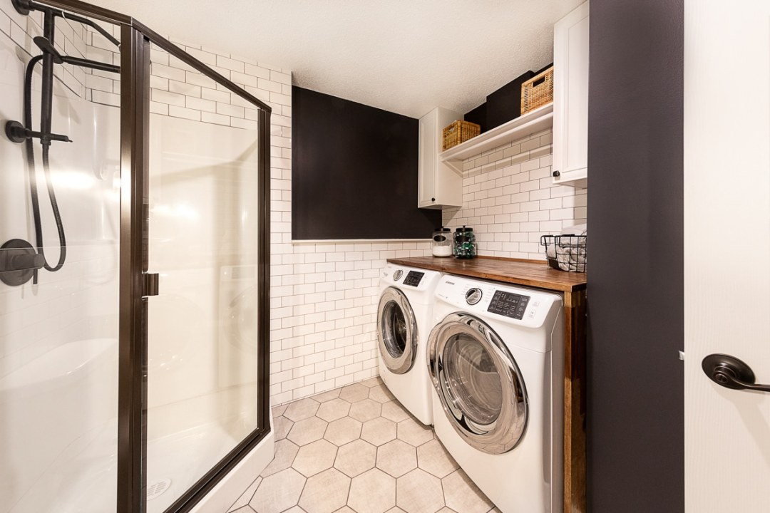 basement laundry for home in sherwood park