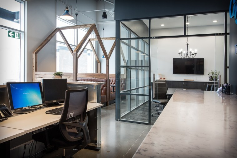 Cooperators Insurance Office glass wall conference room Sherwood Park Edmonton