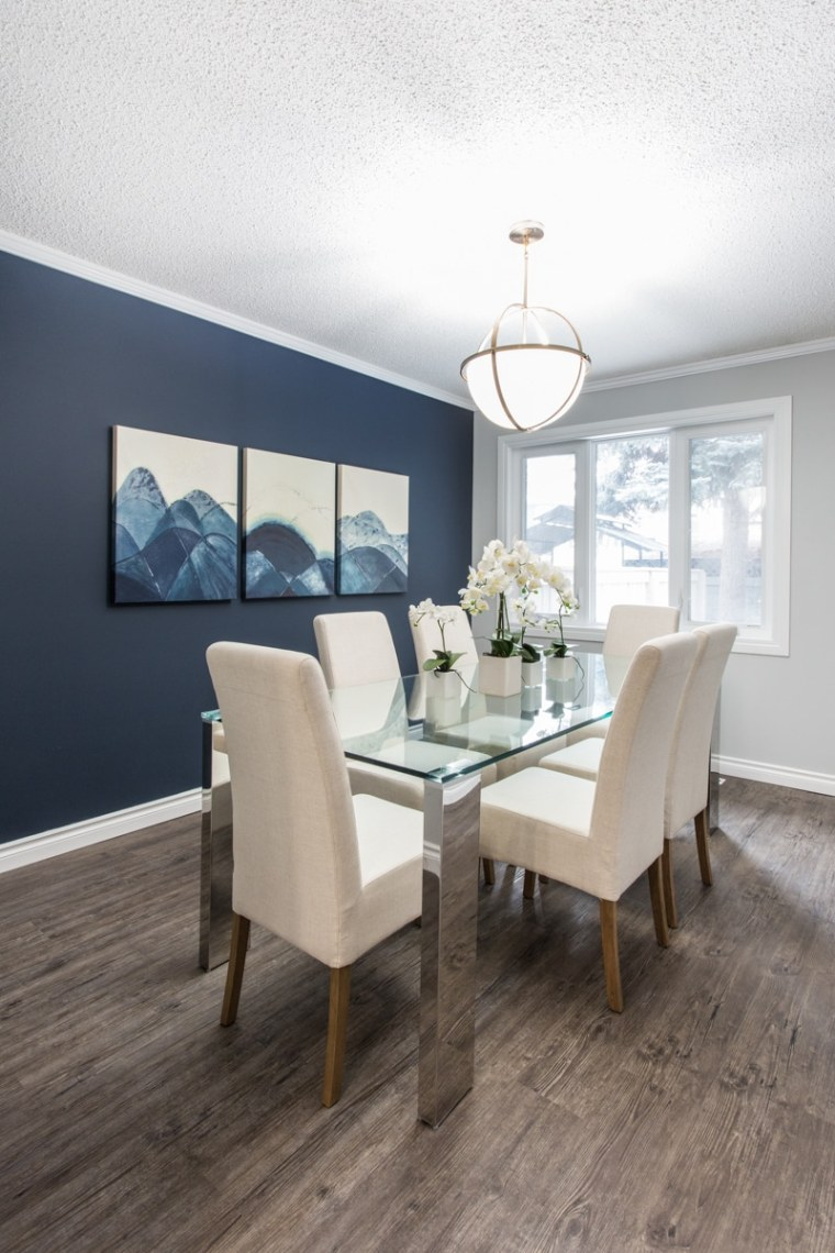 dining room renovation for client in sherwood park