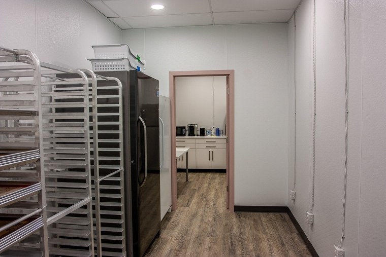 cooling area and door to break room
