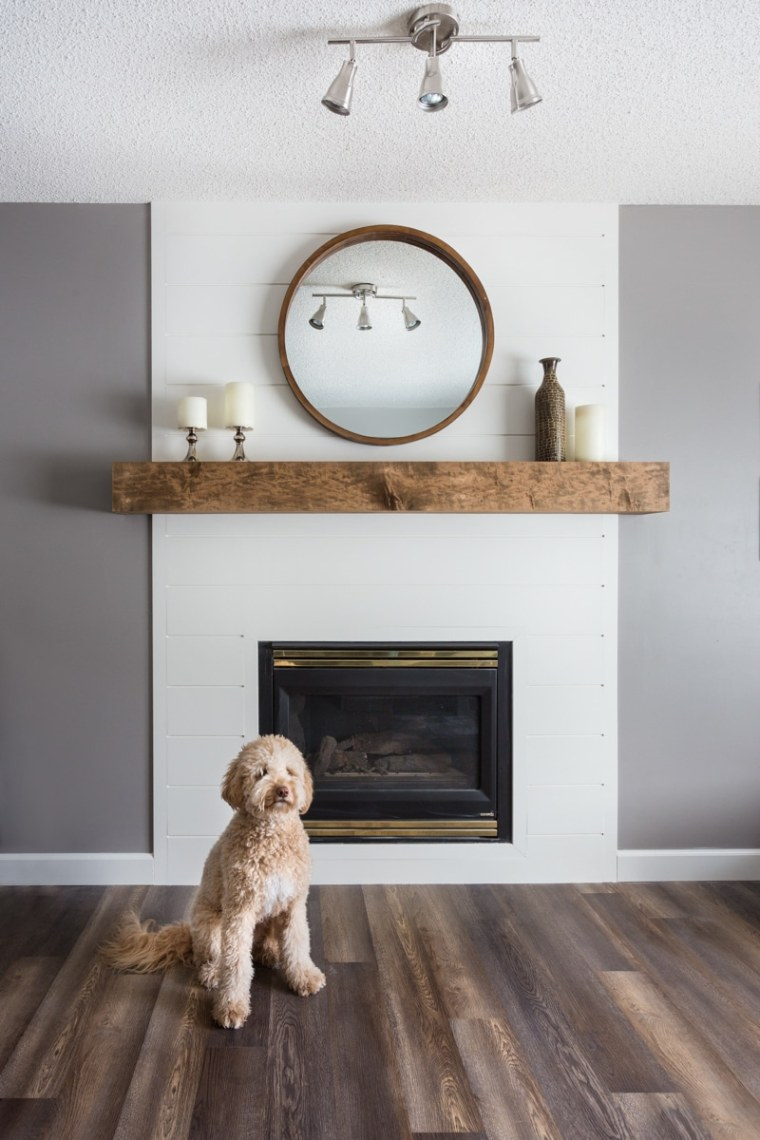 custom home fireplace and mantel renovation in sherwood park edmonton