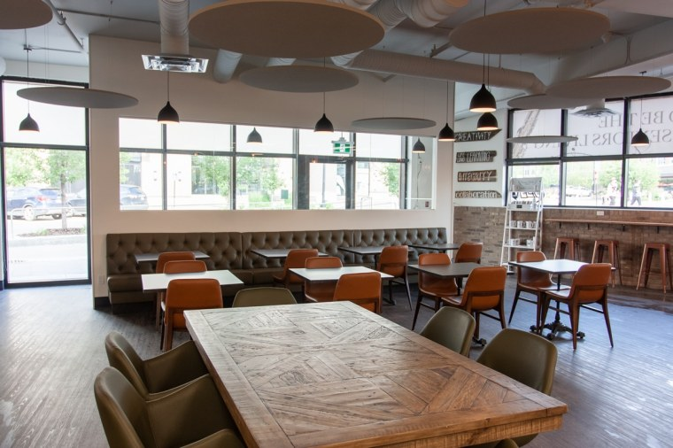 large table seating area common ground sherwood park