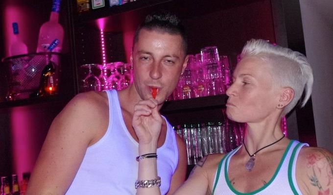 Bar staff at The Garden in Nice