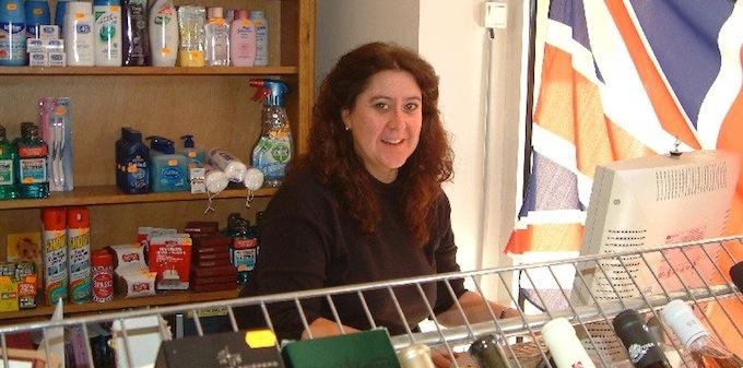 Caroline Brittain in her store in Valbonne