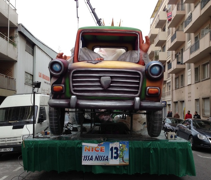 One of the floats that will be featuring in Carnaval de Nice 2013