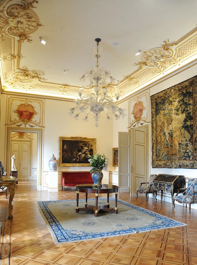 The plush interior of the Villa Regina Margherita in Liguria