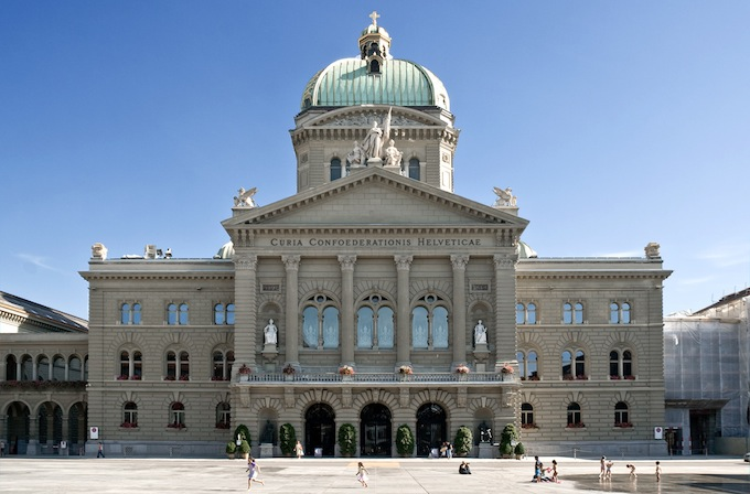 The Bundeshaus in Bern