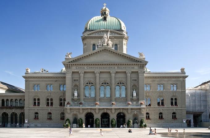 The Bundeshaus in Bern
