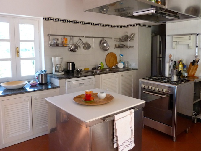 The kitchen in the country villa in Imperia