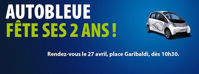 Auto Bleue turns 2 in Nice
