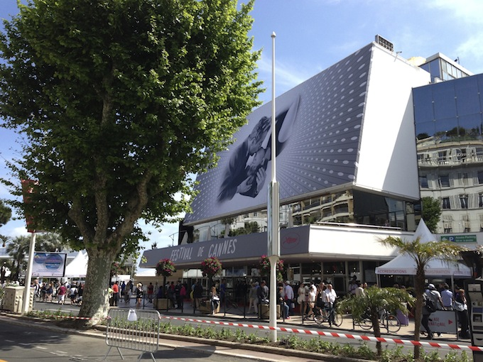 The action around the Palais at Cannes Film Festival 2103